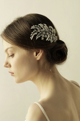 glamour Alloy Imitation Perles Occasion spéciale Combs-Barrettes Headpiece avec strass_8