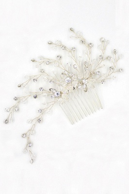glamourous Alloy&Rhinestone Daily Wear Combs-Barrettes Headpiece with Crystal_2