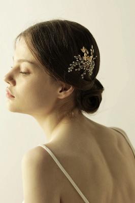 Alliage élégant et strass usure quotidienne coiffes Combs-Barrettes avec cristal_4