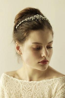 Elegante Legierung Nachahmungen von Perlen Besondere Anlässe & Hochzeit Haarnadeln Kopfschmuck mit Kristall Strass_7