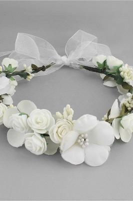 زهرة بلاستيكية مناسبة خاصة زهرة-البنات أغطية الرأس مع اللآلئ المقلدة_10
