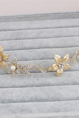 Floral Alloy &Imitation Pearls Daily Wear Hairpins Headpiece with Rhinestone_7