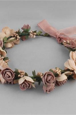 زهرة بلاستيكية مناسبة خاصة زهرة-البنات أغطية الرأس مع اللآلئ المقلدة_3