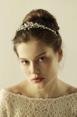 Elegante Legierung Nachahmungen von Perlen Besondere Anlässe & Hochzeit Haarnadeln Kopfschmuck mit Kristall Strass_8