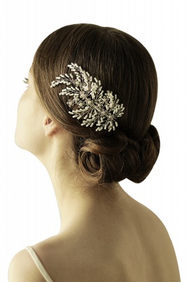 glamour Alloy Imitation Perles Occasion spéciale Combs-Barrettes Headpiece avec strass_6