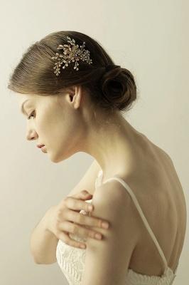 Alliage élégant et strass usure quotidienne coiffes Combs-Barrettes avec cristal_5