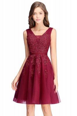 ADDILYNN | A-ligne longueur au genou Tulle robe de bal avec des appliques_8