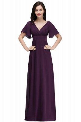 COLETTE | A-Linie bodenlanges Chiffon Burgund Prom Kleid mit weichen Falten_2