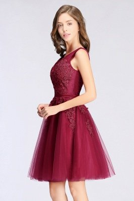 ADDILYNN | A-line Knee-length Tulle Prom Dress with Appliques_6