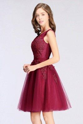 ADDILYNN | Платье выпускного вечера из тюля длиной до колена с аппликациями_12