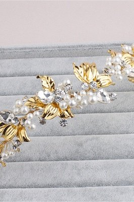Elegant Alloy &Imitation Pearls Special Occasion Hairpins Headpiece with Rhinestone_1