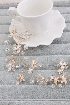 Glamouröse Legierung Nachahmung Perlen Besondere Anlässe & Party Haarnadeln Kopfschmuck mit Crystal Strass_1