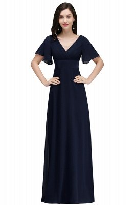 COLETTE | A-line Floor-length Chiffon Burgundy Prom Dress with Soft Pleats_4