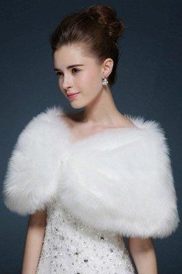 Sexy Tulle White Half-Sleeves Casual Bride Wedding Wraps_5