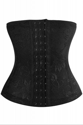Fashion Polyester&Tulle Front Closure Women's Waist-Cincher Shapewear with Prints