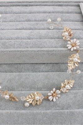 Nette Legierung & Nachahmung Perlen Party Haarnadeln Kopfschmuck mit Kristall_5