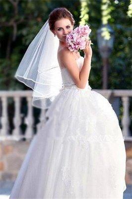 Guantes lindos florales lindos de la boda del borde del lápiz de Tulle con el peine