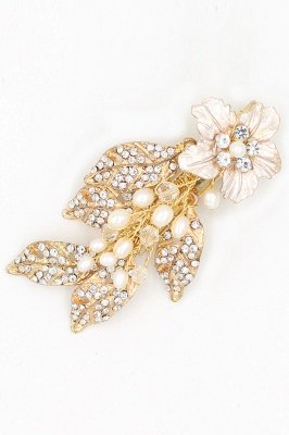 Beautiful Alloy&Rhinestone Party Combs-Barrettes Headpiece with Imitation Pearls_6