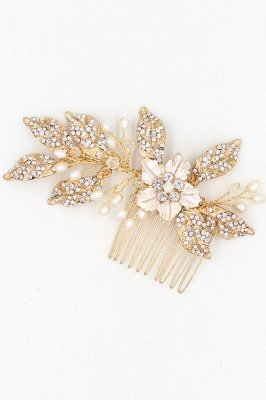 Beautiful Alloy&Rhinestone Party Combs-Barrettes Headpiece with Imitation Pearls_7