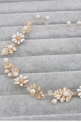 Nette Legierung & Nachahmung Perlen Party Haarnadeln Kopfschmuck mit Kristall_3