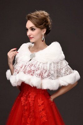 Fashion Tulle White Half-Sleeves Casual Bride Wedding Wraps with Crystal_4