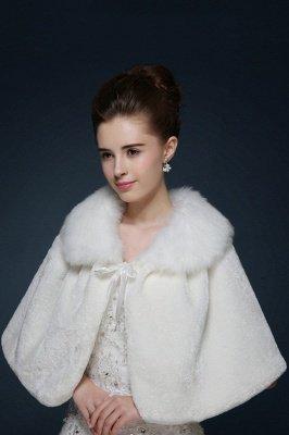 Chaude Mignon Tulle Blanc Demi-Manches Décontracté Mariage Wraps_2