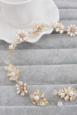 Cute Alloy &Imitation Pearls Party Hairpins Headpiece with Crystal