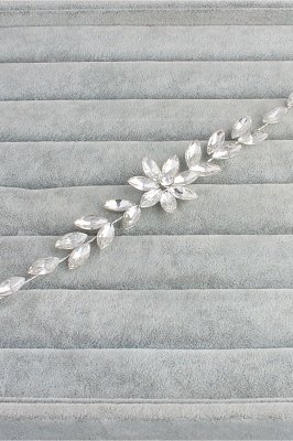 Flower Alloy&Rhinestone Special Occasion Hairpins Headpiece with Crystal_2