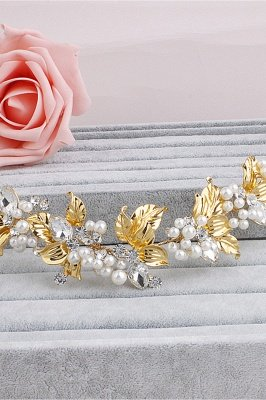 Elegant Alloy &Imitation Pearls Special Occasion Hairpins Headpiece with Rhinestone_4
