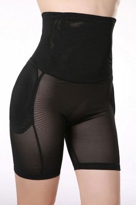 Daily Wear Chinlon & Polyester Schwarze Damen Shaper-Slip Shapewear