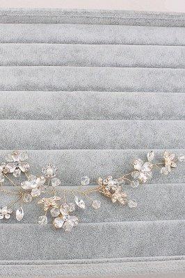 Glamouröse Legierung Nachahmung Perlen Besondere Anlässe & Party Haarnadeln Kopfschmuck mit Crystal Strass_4