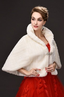Elegant Warm Tulle  Ivory Half-Sleeves Casual Wraps with Crystal_4