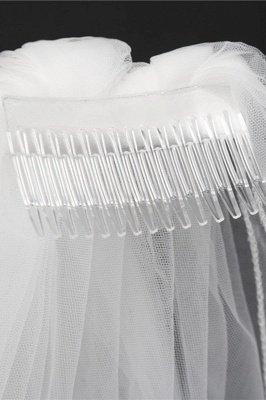 Tulle Cut Edge Wedding Gloves_6