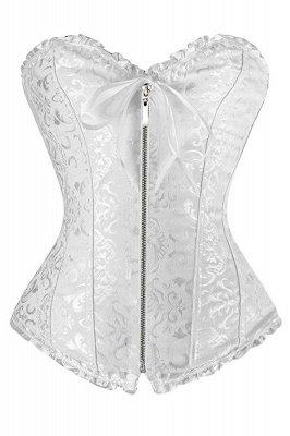 Beliebte Chinlon & Polyester Rücken-Spitze Damen Korsett Shapewear mit Prints_1