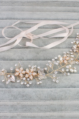 glamourous Alloy &Imitation Pearls Special Occasion&Party Headbands Headpiece with Rhinestone_5