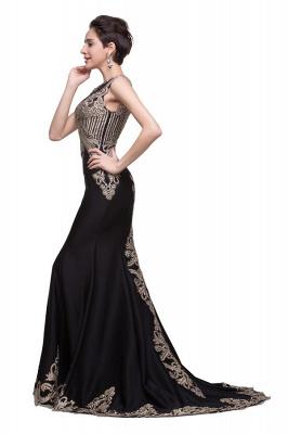 Elegante Schwarze Abendkleider Lang Günstig | Abendmoden Online Kaufen_1
