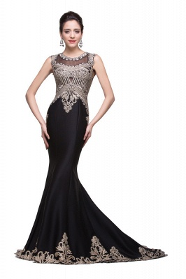 Elegante Schwarze Abendkleider Lang Günstig | Abendmoden Online Kaufen_6