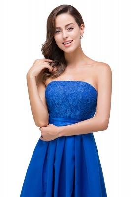 Elegantes A-linie Meerblau Bodenlangen Spitze Brautjungfernkleider | Brautjungfernkleider Mit Applikation_6