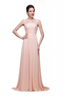 HADLEIGH | A-line Crew Floor-length Sash Chiffon Bridesmaid Dresses With Applique