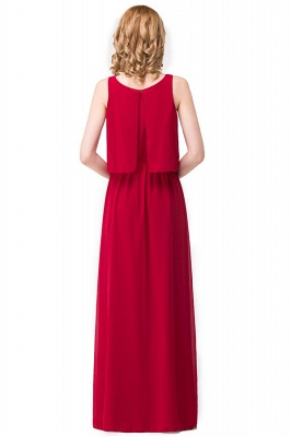 HARLEE | A-line Square Floor-length Chiffon Bridesmaid Dresses_3