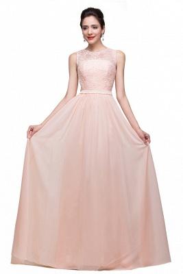 HADLEIGH | A-line Crew Floor-length Sash Chiffon Bridesmaid Dresses With Applique_1