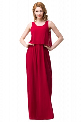 HARLEE | A-line Square Floor-length Chiffon Bridesmaid Dresses_5