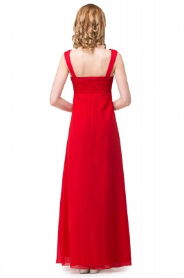 HANNAH | A-line V-neck Knee-length Ruffle Red Bridesmaid Dresses With Crystal_3