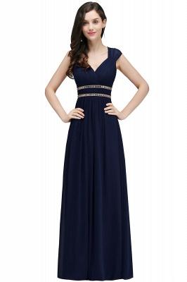 ALISON | Sheath V Neck Burgundy Chiffon Long Evening Dresses With Beads_5