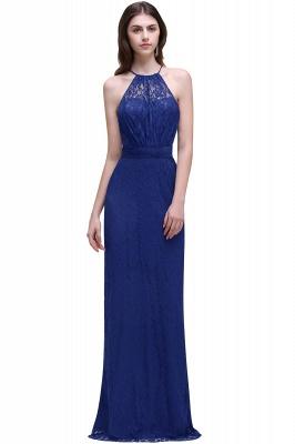 Pretty Floor longueur bleu marine Halter dentelle robe de bal_2