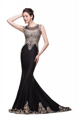 Elegante Schwarze Abendkleider Lang Günstig | Abendmoden Online Kaufen_5