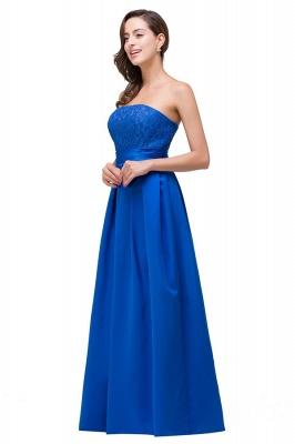 Elegantes A-linie Meerblau Bodenlangen Spitze Brautjungfernkleider | Brautjungfernkleider Mit Applikation_7