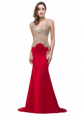 Red Formal Dresses With Applique