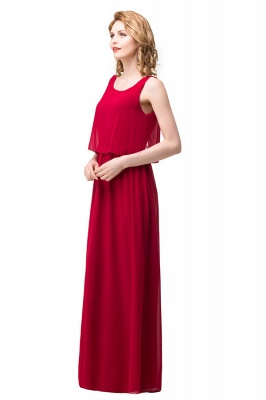 HARLEE | A-line Square Floor-length Chiffon Bridesmaid Dresses_8