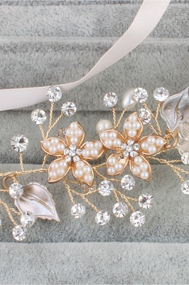 glamourous Alloy &Imitation Pearls Special Occasion&Party Headbands Headpiece with Rhinestone_6
